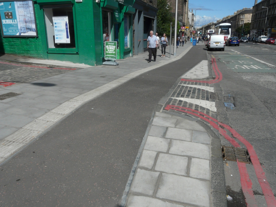 Image shows second viewpoint, from the perspective of those on the footway.