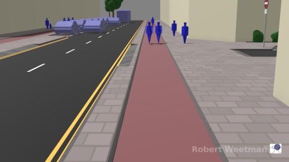 D3: Along footway