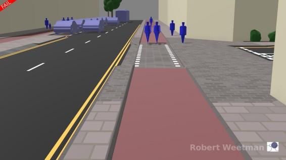 D6: Along footway