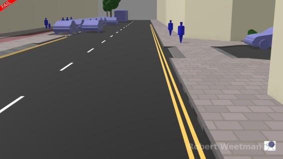 D4: Along footway